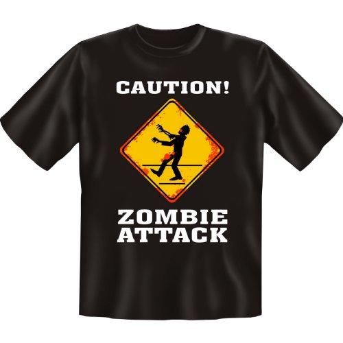 Halloween T-Shirt: Zambie Attack erhältlich in den Größen S, M, L, XL, XXL, 3XL, 4XL und 5XL - Ausgewählt: XXL / Schwarz
