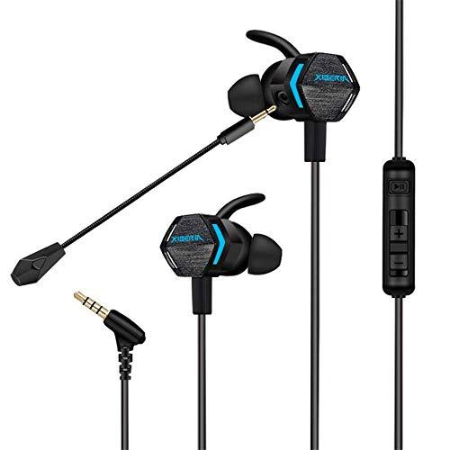 BANNAB Gaming Headset Bass In Ear Earphones für Handy PS4 Xbox 1 Gamepad PC Game Earphones mit Mic -