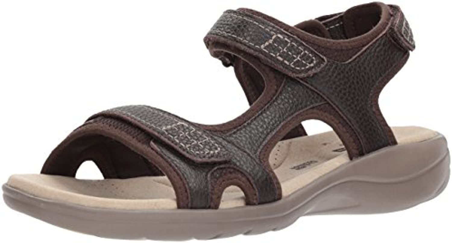 Clarks Wouomo Saylie Jade Sandal, Marronee Tumbled Leather, 7.5 Wide US | Design moderno  | Uomini/Donne Scarpa