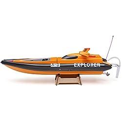 Goolsky VANTEX RC Barco de Carrera Explorador 1300BP FS-GT2 2.4G Transmisor Alta Velocidad 50km/h con Motor Eléctrico