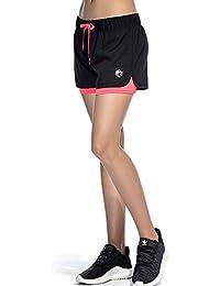 CtopoGo Femme 2 en 1 Short de Sport Short deYoga Short de Fritness Short de Sport en plein air Respirant Mesh