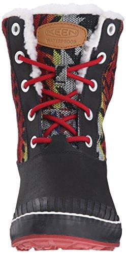KEEN Elsa Boot WP W Scarpa invernali nero rosso giallo