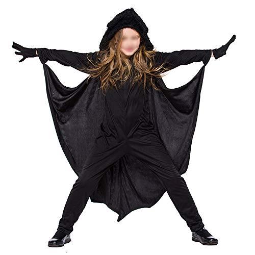 Goyajun Halloween Kostüme - Kind Erwachsene Gemütlich Fledermaus Overall Mädchen Jungen Frau Männer Familie Vampir Cosplay Kostüm - Fledermaus Frau Kostüm Kinder