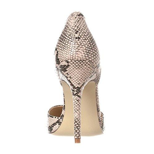 Cut Pumps Damenschuhe 45 Pfennigabsatz D'orsay Schuhe Out Python Kolnoo Schuhspitze 100mm Größe 35 HStq1Y