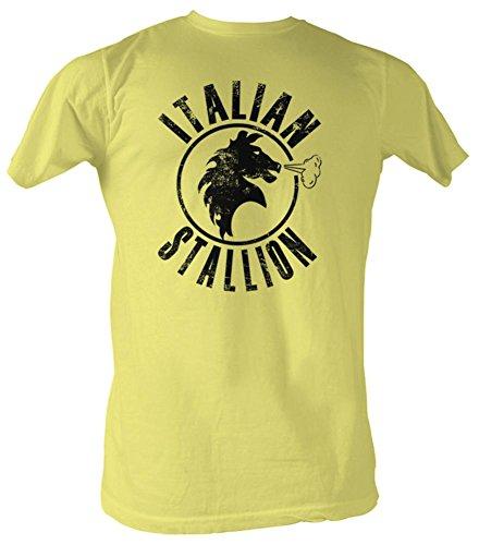 2Bhip Rocky mgm film italienische stallion 1976 T-shirt für Herren Hälfte Gelb