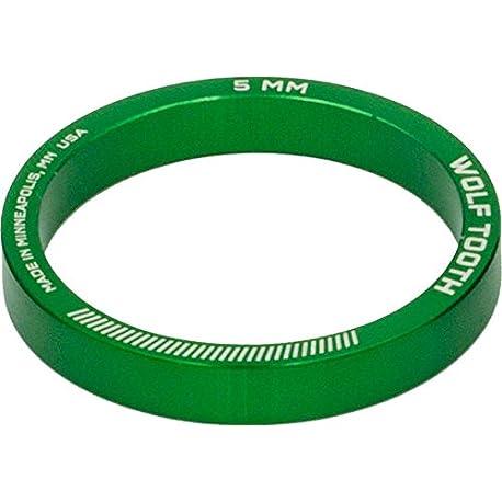 Lobo Diente Componentes Headset espaciador 5 unidades 5 mm color verde