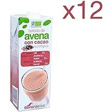 Pack 12 ud BEBIDA DE AVENA CON CACAO BIO ecológica 1 litro SORIA NATURAL