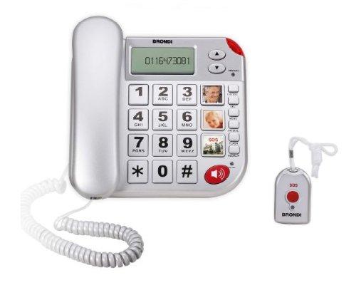 Brondi Super Bravo Plus Telefoni Domestici, Argento