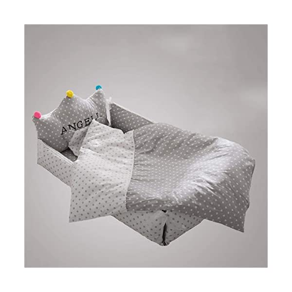 LNDD-Baby Lounger Pod Bionic Uterine Nest Water Resistant Removable Travel Cradle Mattresses Breathable And Hypoallergenic Sleep Nest Suitable for Newborn Children Aged 0-3,Gray LNDD BABY BIONIC BED: fit the spine, soft touch, constant temperature cooling, deep sleep, balanced force, strong support PRODUCT DESIGN: lace design to prevent baby, cotton jacket soft and comfortable, breathable, cover the zipper to prevent the baby from accidentally touching IMITATION UTERUS DESIGN: 306° wrap around wraparound compact space as if in a familiar uterine environment, designed to sleep deeply throughout the night. 1