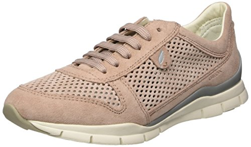 Geox Damen D Sukie F Sneaker, Pink (Antique Rose), 41 EU