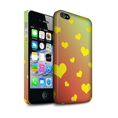 STUFF4 Matte Snap-On Hülle / Case für Apple iPhone 7 Plus / Liebe Herz/Gelb Muster / Ombre Muster Kollektion Liebe Herz/Gelb