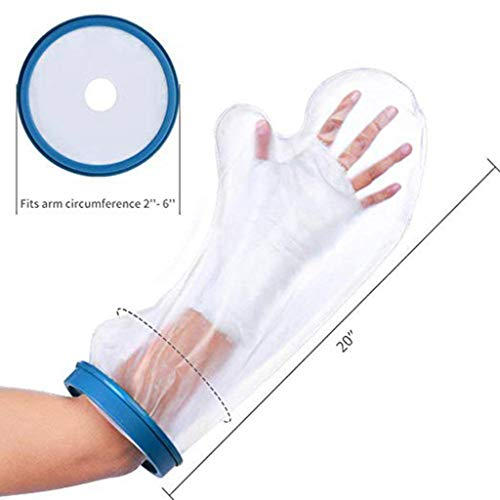 Hunpta@ VM200 Wasserdichter Gips-und Verbandschutz beim Duschen/Baden, Erwachsene Hand (Blau)
