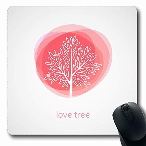 Luancrop Mousepads Gruß-Baum-Liebes-Zusammenfassungs-Feiertags-aufwändige Schwarze Niederlassungs-Bush-Feier-Entwurfs-rutschfeste Spiel-Mausunterlage Gummi-längliche Matte -
