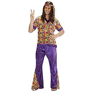 WIDMANN Widman - Disfraz de hippie años 60s para hombre, talla XL