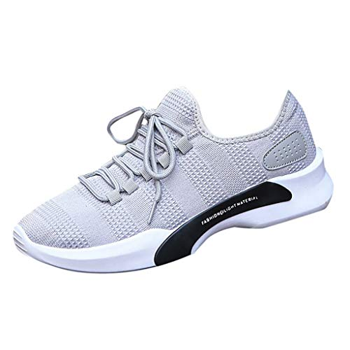 WWricotta Men's Solid Color Versatile Casual Shoes Low to Help Breathable Sneakers Shoes(Grau,39) -