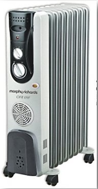Morphy Richards OFR11F - 11 Fin, 2900 Watt Oil Filled Radiator with PTC Fan Heater (Grey)