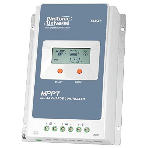 Photonic Universe 30A MPPT Solar-Laderegler mit eingebautem LCD-Display für Solarpaneele bis 390 W (12 V Batteriesystem) / 780 W (24 V Batteriesystem) bis 100 V