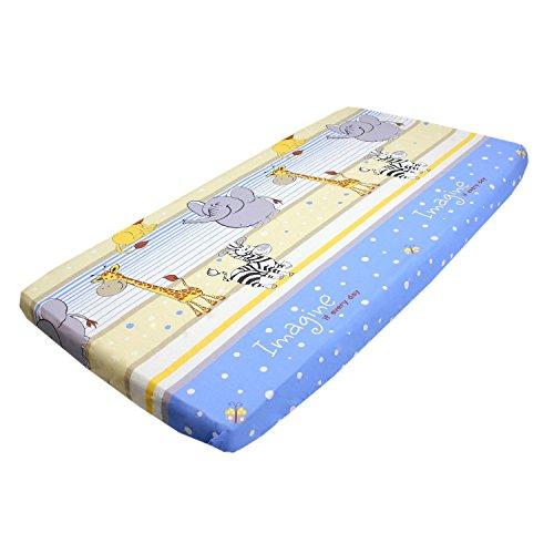 TupTam Baby Spannbetttuch mit Gummiband Baumwolle ANK004, Farbe: Tupfen-Sterne Grau, Größe: 90 x...