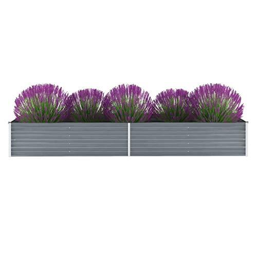 vidaXL Hochbeet Verzinkter Stahl 320x80x45cm Garten Pflanzbeet Blumenkasten