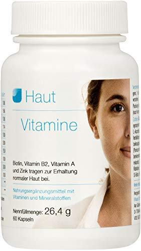 Vihado Haut Vitamine, OPC, Biotin, Vitamin B2, Vitamin A und Zink, 60 Kapseln, 1er Pack (1 x 26,4 g) -