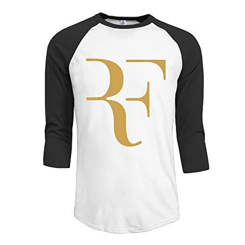 KDHRTI Herren Kurzarmshirt, Men's Andy Murray New Logo 3/4 Sleeve 100% Cotton Baseball Tee/T Shirts - Ucla-t-shirt Jersey