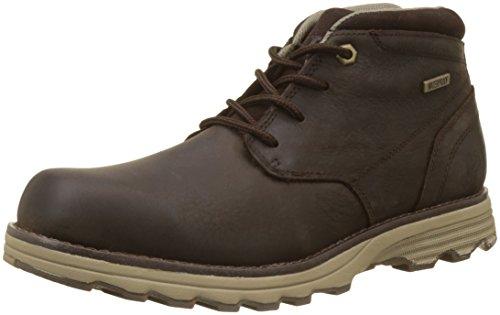 Caterpillar Herren Elude WP Chukka Boots, Braun (Dark Brown), 44 EU (Boots Ankle Eyelet)