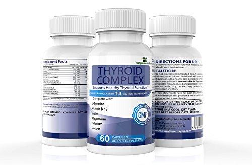 COMPLEJO TIROIDEO. 60 Suplementos Premium con 14 INGREDIENTES ACTIVOS,