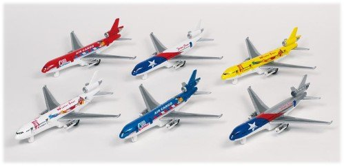 Flugzeug, Spritzguß 19cm per Stück, Ausführung je nach Verfügbarkeit
