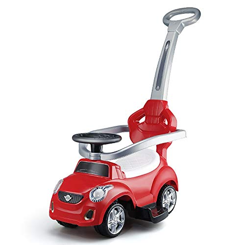 Daxiong Verdrehendes Auto der Kinder / 1-3 Baby/Roller/ausgestattet mit Einer Musik/Trolley/ruhigem Ton-Vierrad-Spielzeugauto Kindauto,Red -