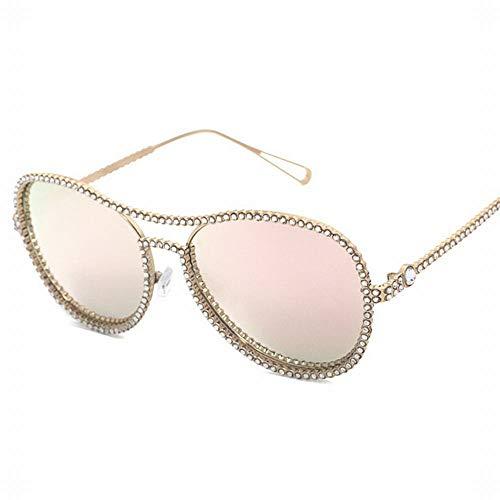 WULE-RYP Polarisierte Sonnenbrille mit UV-Schutz Frauen Trend Strass Flachen Spiegel Street Beat Strahlung Frosch Spiegel Myopie Brillengestell. Superleichtes Rahmen-Fischen, das Golf fährt