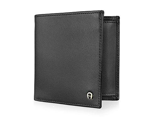aigner-homme-porte-monnaie-cuir-daily-basic-noir
