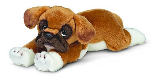 Bearington Collection Roscoe Boxer Plüsch Stofftier Welpen Hund 15 Zoll
