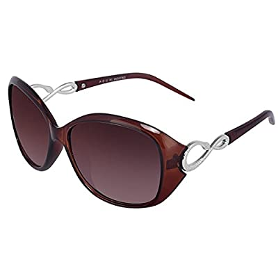Y&S Womens Sunglasses Of 2 Combo Of 2 Sunglass (Black Brown) Wayfarer Sunglasses For Womens/Girls/Ladies - (Butterfly-Combo-Black-Brown)