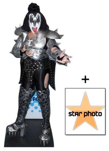 *Fanbündel* - Gene Simmons KISS Lebensgrosse Pappfiguren / Stehplatzinhaber / Aufsteller - Enthält 8X10 (25X20Cm) starfoto - Fanbündel #345 (Figur Gene Simmons)