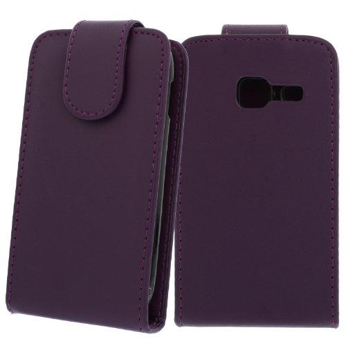 Flip Case Hülle Etui Cover Case Tasche für Samsung Galaxy Ace DuoS GT-S6802 Kunstleder Tasche: Farbe: Lila