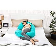 Amazon Brand - Solimo Maternity Pillow, Large, Aqua Blue