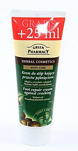 Fuß Repair Creme gegen Risse mit Walnussöl und Wegerich Extrakt 75ml Green Pharmacy