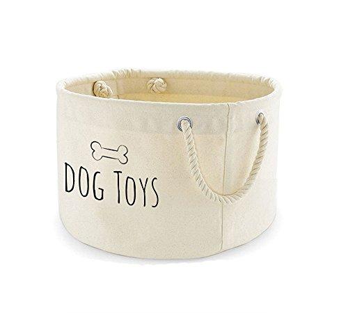 Bedruckte Leinwand Hund Toys Korb Aufbewahrung Bin Organizer Tasche (Leinwand-speicher-körbe)