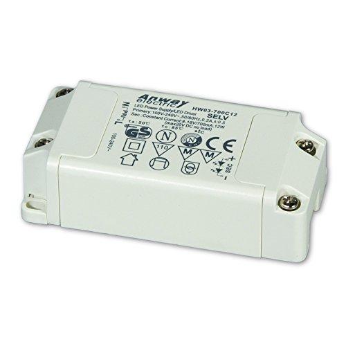Preisvergleich Produktbild 00011758 - ANWAY LED Treiber HW03-700C12 12W/700mA/8-16V