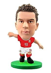 Soccerstarz SOC1043 - Figura del Equipo Nacional de Gales con Licencia Oficial de Aaron Ramsey en Kit de Inicio