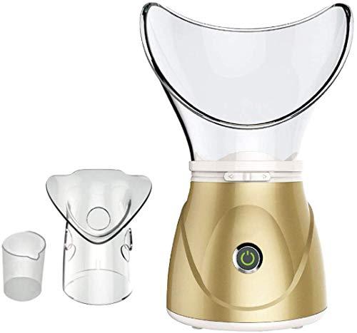 Professioneller digitaler Deluxe-Gesichts-Spa-Inhalator mit Nebel und Sauna von guter Qualität - Hilft bei der Porenöffnung und beim Entfernen von Schmutz, Bakterien und Make-up-Rückständen (Gold) -