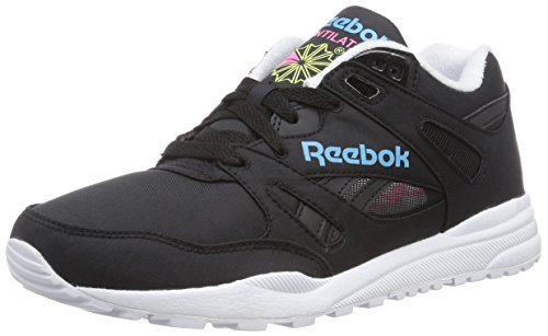 Reebok Ventilator Day Glo, Chaussures de Running Compétition mixte adulte Noir - Schwarz (Black/Neon Blue/Solar Yellow/Solar Pink)