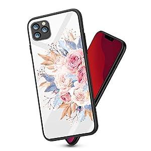 Fantasyqi Handyhülle Kompatibel mit iPhone 11 6.1 Hülle 9H Gehärtetes Glas + Hartplastik Zurück + Premium Bumper Silikon(TPU) Stoßfest Schale Kratzfest Ultradünn Design