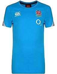 Inglaterra Rugby camiseta de entrenamiento de algodón de los niños, Infantil, Cotton Training, azul brillante, 8 años