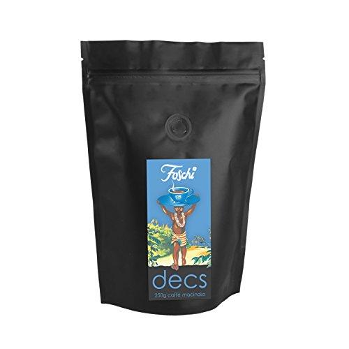 Confezione da 250g di caffè decaffeinato macinato Foschi qualità