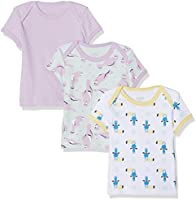 Care Bane T-Shirt, Purple (Lavender 607), 12 Months/80 cm, Pack of 3