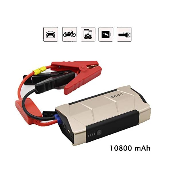 LALEO Arrancador de Coches de Coche (hasta 2, 0L Gasolina), 600A 10800mAh 12V IP68 Impermeable con Carga Rápida QC3.0…