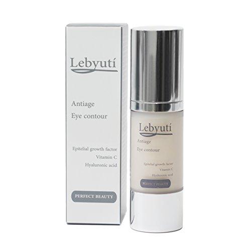 Augencreme Lebyutí 30 ml reine Hyaluronsäure, stabiles verkapseltes Vitamin C und Hautwachstumsfaktoren. Vitamin B3, Kollagen, Panthenol. Augen-Faltencreme gegen, Schwellungen und Augenringe