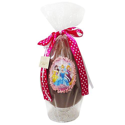 Uovo di pasqua artigianale principesse disney con sorpresa - cioccolato al latte rapunzel bella cenerentola (350 gr)