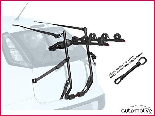Proposteonline Portabici Posteriore 3 Bici Omologato Compatibile con Renault Megane Station Wagon 5 Porte dal 2003 al 2009 Incluso Un Adattatore per Bicicletta da Donna Senza Canna 006902